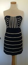 Nwt Modcloth Miss Minuet Strapless Minidress L Nautical Stripe Vintage Inspired