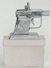 Vintage OCCUPIED JAPAN METAL SILVER-TONE PISTOL Lighter with Box Carnival Prize