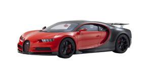 "BUGATTI CHIRON SPORT ""16"" RED & BLACK 1/12 MODEL CAR BY KYOSHO KSR 08667 R"
