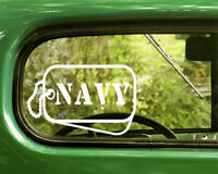2 U.S. NAVY DOG TAGs DECALs Military Sticker For Car Window Bumper Laptop RV