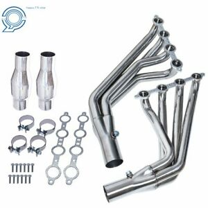 For 10-15 Camaro SS LS3 6.2L V8 Long Tube Stainless Header Exhaust Manifold New