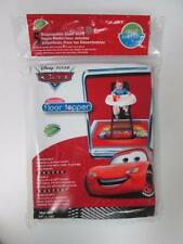 """DISNEY CARS TODDLER RED PLASTIC DISPOSABLE FLOOR MATS 5-PACK 38"""" X 38"""" BRAND NEW"""
