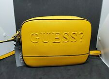 Women's GUESS Crossbody Handbag Rigden Rose Mini Purse Cognac Leather Bag
