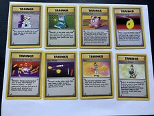 Lot of 8 Rare Base Set Unlimited Trainer Pokemon Cards
