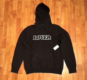 NEW MEN'S M BIANCA CHANDON LOVER HOODIE IN BLACK CHENILLE LOGO MADE IN CANADA