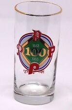 1983 100th anniversary Philadelphia Phillies Roy Rogers glass