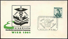 Austria 1961 Transport Ministers Meeting  Cover #C14852