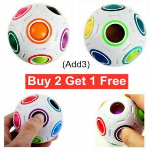 Fidget Ball Rainbow Magic Puzzle Rubiks Cube Toy Autism Brain Stress Relief Toys