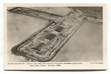 Zuiderzeewerken / Zuiderzee works - construction, aerial view - 1926 postcard