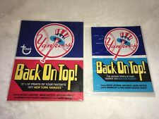New York Yankees Large Reprint Baseball Cards in Wax Pack Wrapper 1974 & 1977