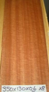 REAL WOOD VENEER X8 MAKORE SHEETS, RESTORATION,CRAFT,BOXES,PANELS,MARQUETRY