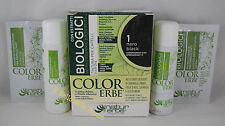 COLOR ERBE bio Tinta TINTURA capelli 60ml biologica colore 1 NERO BLACK