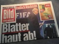 Bildzeitung BILD 03.06.2015 * Geschenk Geburtstag Heirat Taufe * Blatter * FIFA