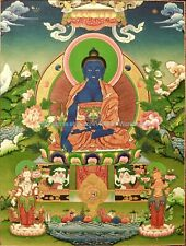 Us Seller - Tibetan thangka Medicine Buddha paper poster decorative wall