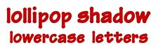 Sizzix Bigz Lollipop Shadow alphabet Lowercase 4-die Set #657893 Retail $79.99