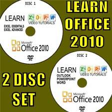 LEARN OFFICE 2010 SIMPLE VIDEO TRAINING EASY TUTORIALS BY EXPERTS 2 PC-DVD SET