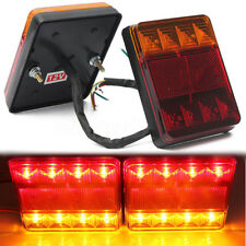 2x Trailer Truck 8 LED Taillight Brake Stop Turn Signal Indicator Lamp Tail 12V