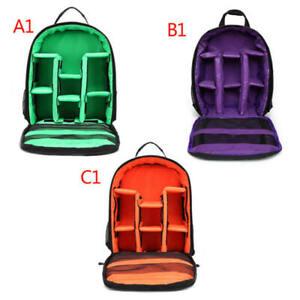 DSLR Camera Backpack Shoulder Bag Case Photograph Waterproof For Nikon Canon