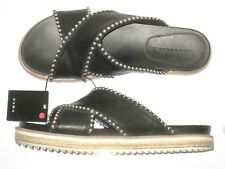57cacfb05822 Zara Sandals Flip Flops Stud Strappy Black Womens Size 8