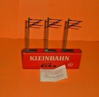 Kleinbahn  HO  3  x  overhead  Masts  ( non working)  Boxed.    ( T282)