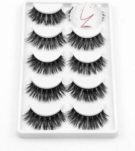NEW 5Pair 3D Mink False Eyelashes Wispy Long Thick Soft Fake Lashes By LiudaszzⓇ