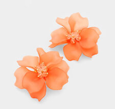 MARNI H&M  Coral Flower Earring Set
