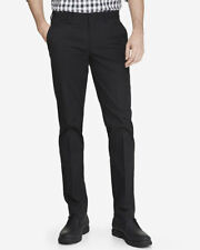 NEW EXPRESS BLACK EXTRA SLIM INNOVATOR STRETCH COTTON DRESS PANT SZ 31/30
