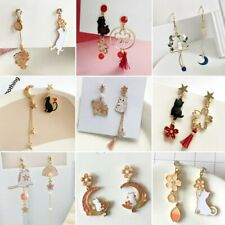 Fashion Chinese Style Cat Asymmetric Drop Dangle Earrings Stud Women Jewelry Hot