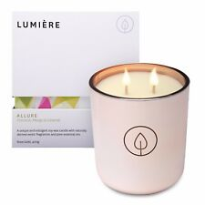 NEW Lumiere Rose Gold Allure Candle Coconut, Vanilla & Caramel Fragrance Aroma