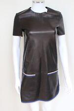 Celine Black leather Shift Dress F 36 UK 8