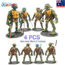4Pcs Teenage Mutant Ninja Turtles Toy Action Figures Model Set Classic 1998