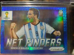 2014 Panini Prizm World Cup Net Finders Blue Prizms /199 Gonzalo Higuain Rookie