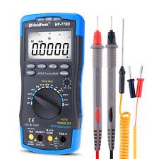 Digital Multimeter Auto Range 40000 Counts True Rms Ohm Volt Amp Capacitor Test