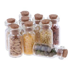1/12 Dollhouse Miniature Kitchen Dried Food Glass Jar Rooms Items Decor 9pcs