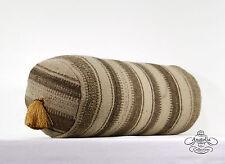 Vintage Round Kilim Pillow Turkish Bolster Cushion Case Cylinder Back Throw Sham