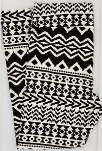 Tall & Curvy2  LuLaRoe TC2 Leggings Aztec Tribal Black White Print NWT G31