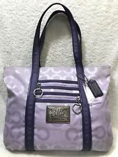 Coach Poppy Op Art Glam LARGE Tote Bag Purple (#14530)