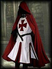 Medieval Templar Knight Tunic, Surcoat & Cloak Reenactment SCA LARP Costumes