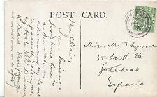 Genealogy Postcard - Ancestor History - Thynne - South Street - Gateshead BH5880