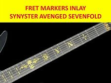 SYNYSTER AVENGED SEVENFOLD GOLD FRET MARKERS VISIT OUR STORE WITH MORE MODELS