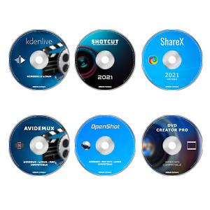 PRO VIDEO, MOVIE, FILM EDITING PRODUCTION NLE SOFTWARE BUNDLE -  6 PROGRAMS DVD