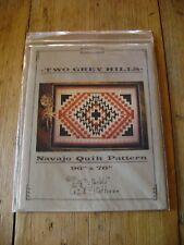Vintage Southwestern Quilt Pattern Navajo Indian Design TWO GREY HILLS 96 x 76