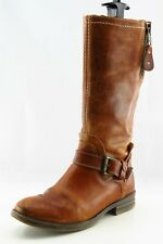 Bed Stu Boot Sz 8.5 M Mid-Calf Boots Round Toe Brown Leather Women