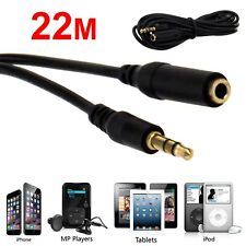 22M 3.5mm Jack Plug Socket Audio AUX Headphone Extension Male To Female Cable