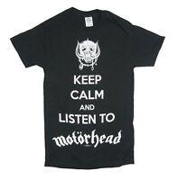 Motorhead Keep Calm Listen To Black T Shirt New Official Lemmy