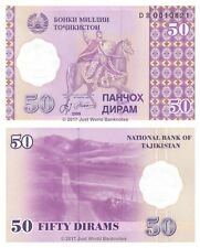 Tajikistan 50 Dirams 1999 P-13 Antigua URSS Billetes Unc