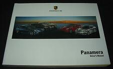 Driver´s Manual Porsche Panamera 4 / 4S / Turbo / S / V6 Betriebsanleitung 2011!