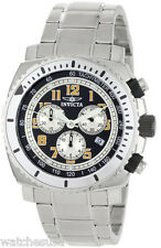 Invicta 0616 II Black Dial Stainless Steel Chronograph Men's Watch