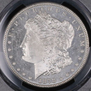 1878 7TF MORGAN SILVER DOLLAR COIN PCGS MS62 PL