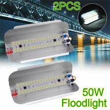 2Pcs 50W LED Flood Light High Bay Waterproof Floodlight Iodine-Tungsten